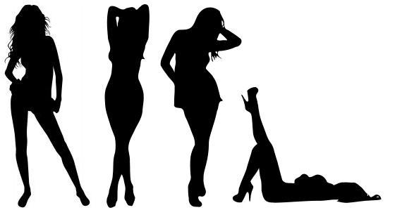 4 vrouwelijke sexy poses