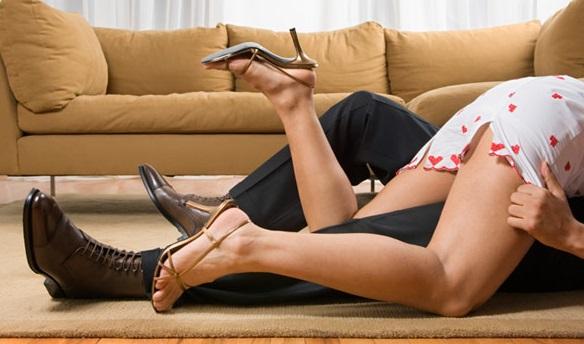 seks op het vloerkleed